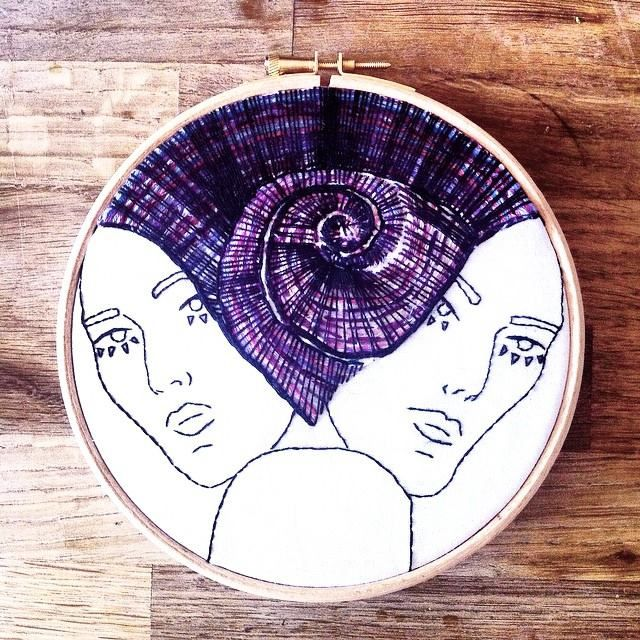 Embroidery hoop art by Oh Sew Strange