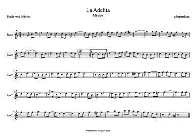 La Adelita partitura para Saxofón Alto Segundo Canción Popular de la Revolución Mexicana