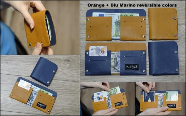 Stocktake SALE 60% - NERO Bifold Wallet FULL RFID Protected + Reversible Colors