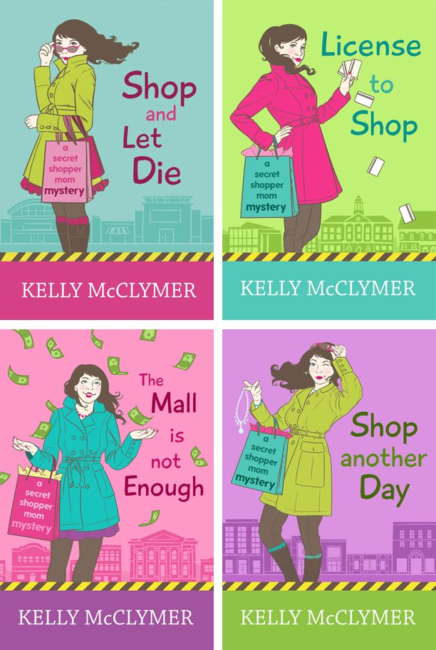 Read how I came up with a branding concept and designed these illustrated book covers for Kelly McClymer's cozy mystery series   Book Cover Bakery