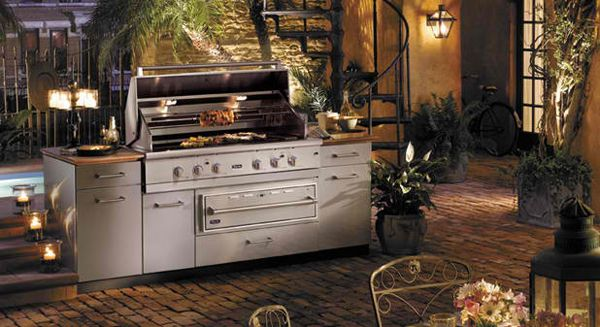 Best 25 modular outdoor kitchens ideas on pinterest for Viking outdoor cabinets