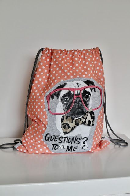 Lady Tattooch batoh vak batohy handmade homemade sewing bag bags cute for kids girl boy with picture polka  dog