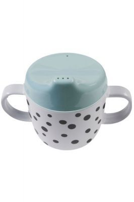 Trinklerntasse Dots blau done by deer