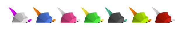 """Les différents coloris du modèle """"Float"""" proposés"""
