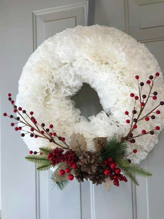 coffee filter coffee filters christmas crafts xmas crafts christmas decoration crafts