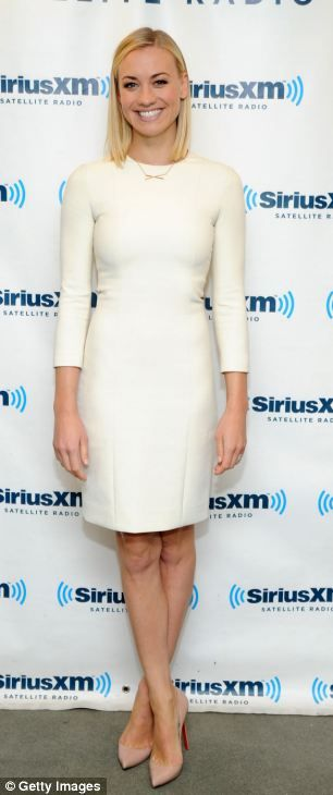 Ice Queen: the snowy weather isn't enough to dampen Yvonne Strahovski's spirits as she traveled between media appearances in New York on Tue...