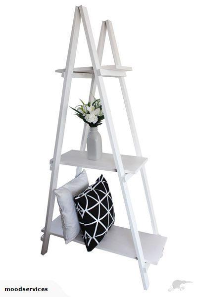 Ladder Trestle Shelf Display - Wooden | Trade Me