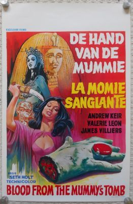 Blood From the Mummy's Tomb, Original Belgian Movie Poster, Hammer Horror, '71