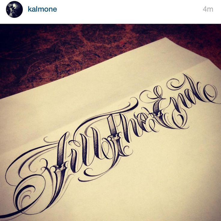 Thank you @kalmone for designing this for the shop @till_the_end_tattoo_gallery One of the dopest lettering artist in the game!