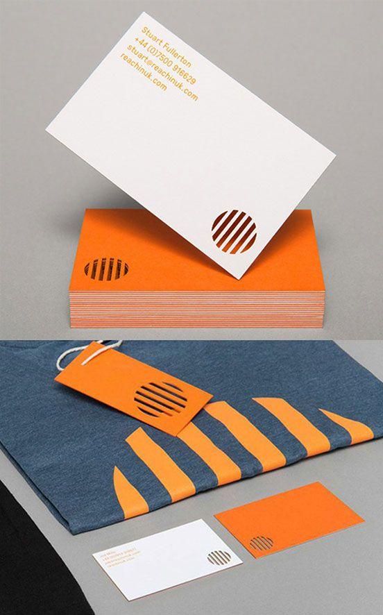 Bright Modern Minimalist Die Cut Business Card Design