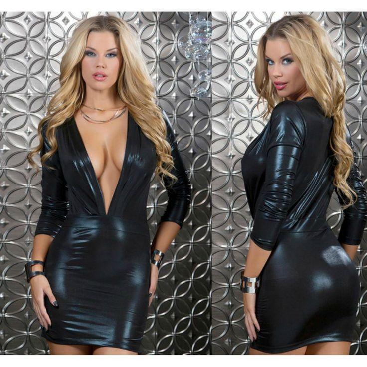 FORPLAY MINI #VESTIDO #SENSUAL NEGRO ESCOTE EN V DE POLIPIEL en #SEXSHOP Muakas - https://www.muakas.com/14120-vender-forplay-mini-vestido-negro-escote-en-v-de-polipiel.html