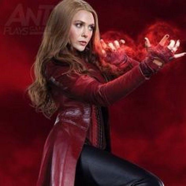 Captain America Civil War Wanda Maximoff Stylish Leather Full Costume