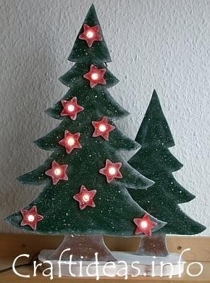 Wood Craft for Christmas -  - Lighted Christmas Trees (free pattern)