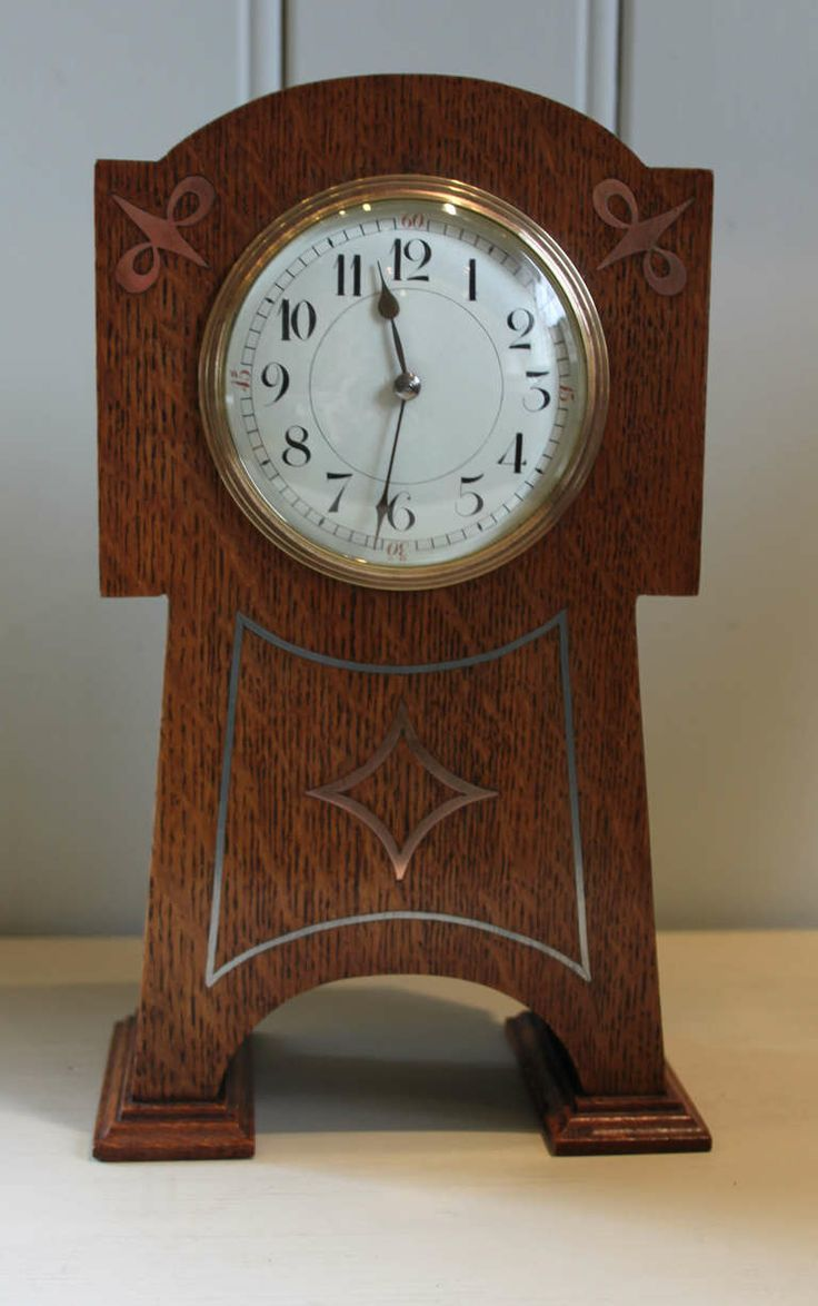 Arts and crafts mantle clock - Arts And Crafts Oak Mantel Clock