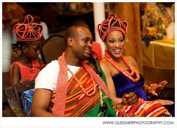 Nigerian Bride and Groom | Joseph+Chika's Traditional Nigerian Wedding Ceremony at Revolution Mills Studios in Greensboro, NC | Greensboro Wedding Photographer | Igbo Wedding | Edo Wedding | ©2014 Glessner Photography