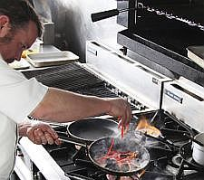 Head Chef at Steamers Restaurant, Andy Williams