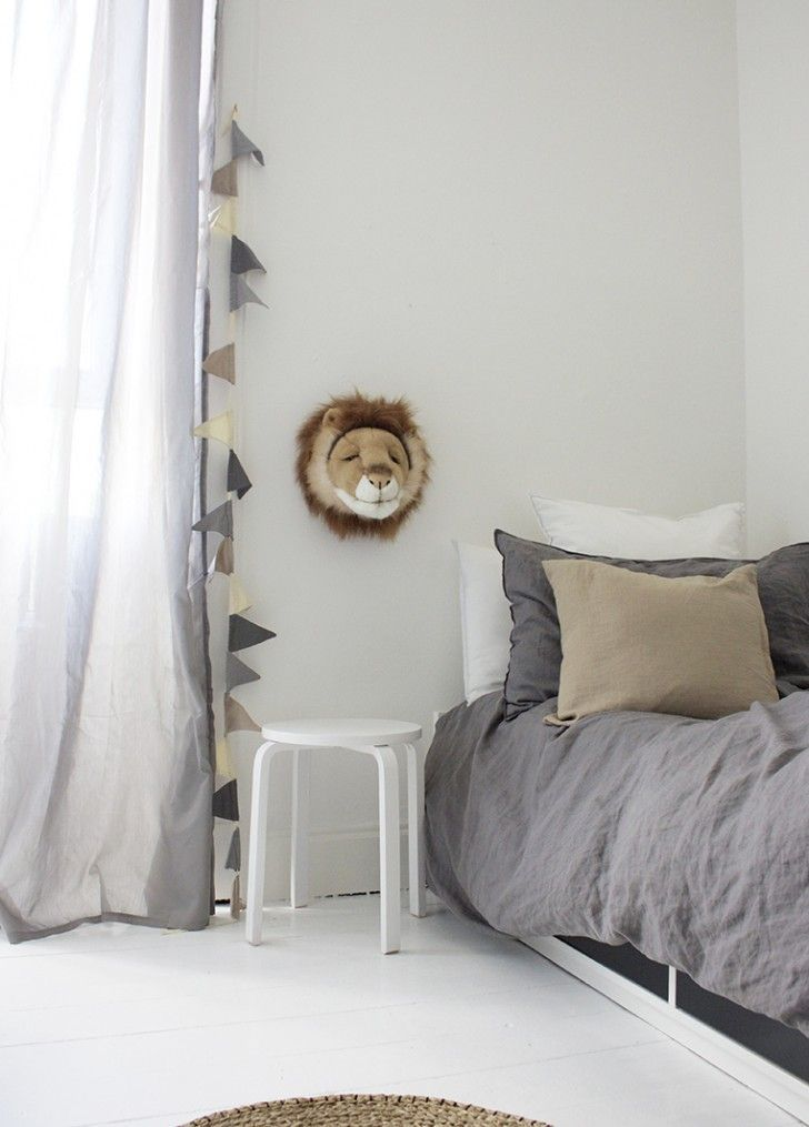 pinned by barefootstyling.com 6 Neutral Kids Rooms wih a Touch of Grey - Petit & Small