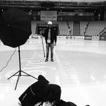 We are shooting the Humör Main Fall 2014 Collection at this ice hockey Arena! Not cold at all!