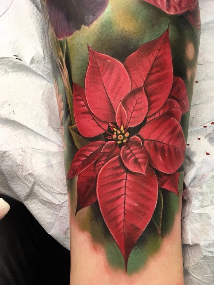 Tattoo Ideas For The Christmas Fanatic With Images Flower Tattoo Flower Tattoo Sleeve Men