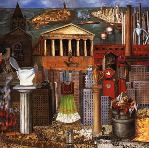 frida kahlo paintings | My Dress Hangs There 1933 Painting by Frida Kahlo | Oil Painting
