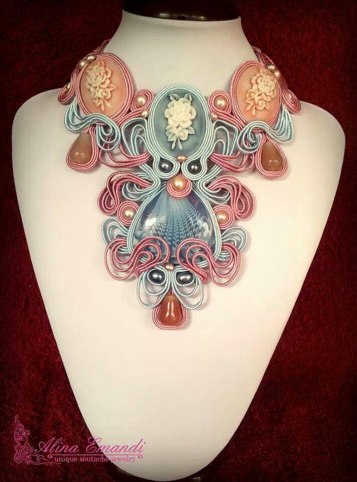 Candy soutache necklace