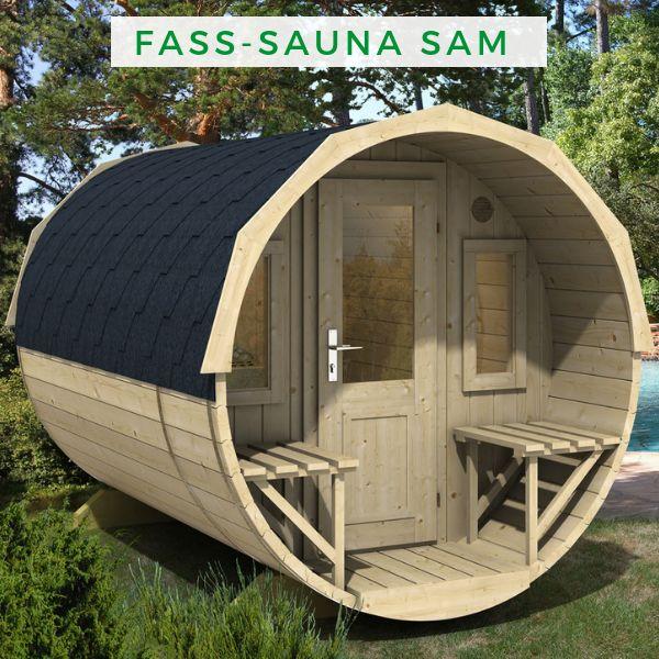finntherm fass sauna sam eine sauna f r den garten. Black Bedroom Furniture Sets. Home Design Ideas