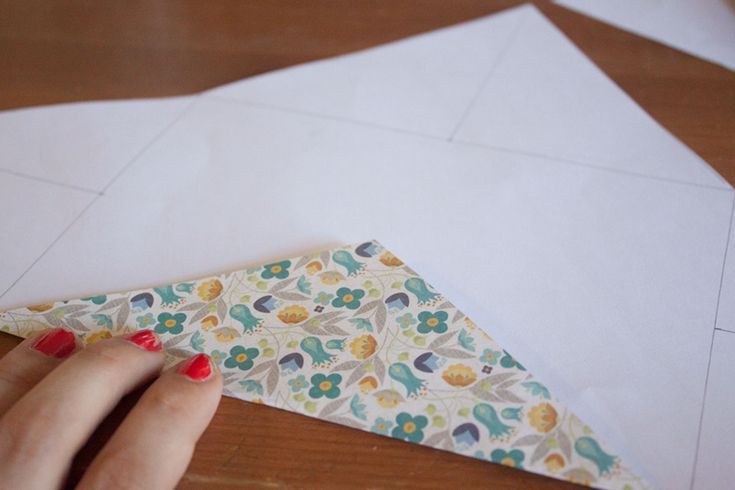 Make your own 5x7 envelope from a sheet of scrapbook paper