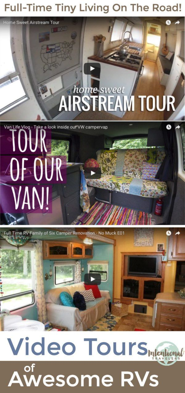 Cool tours of RVs used for full-time tiny living | Intentional Travelers