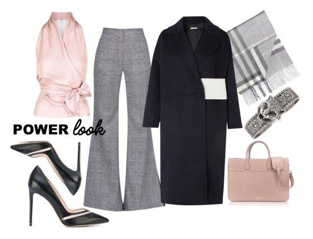 """there's power in pink"" by purraldo ❤ liked on Polyvore featuring Sara Battaglia, MaxMara, Burberry, Rejina Pyo, Jil Sander, Nicholas Kirkwood, Gucci, girlpower and powerlook"