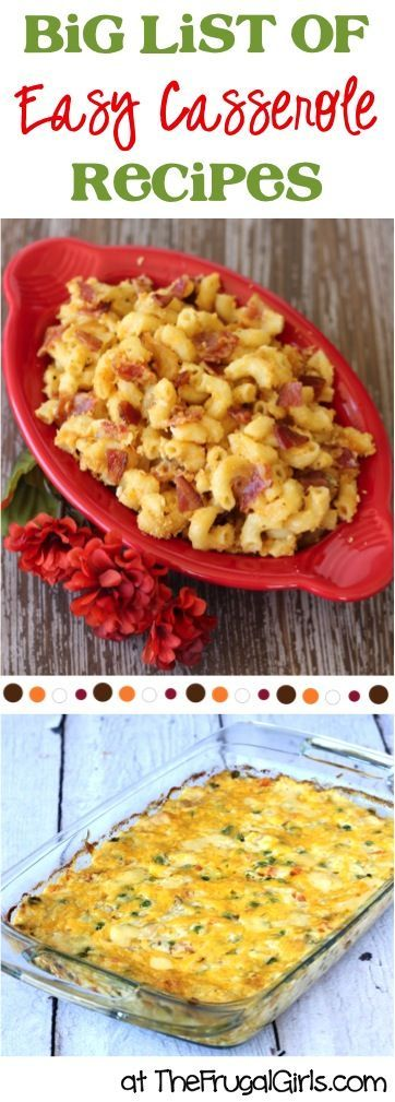 Easy Casserole Recipes! ~ from TheFrugalGirls.com - you'll love this BIG List of simple and delicious casseroles - both for dinner and breakfast! #recipe #thefrugalgirls