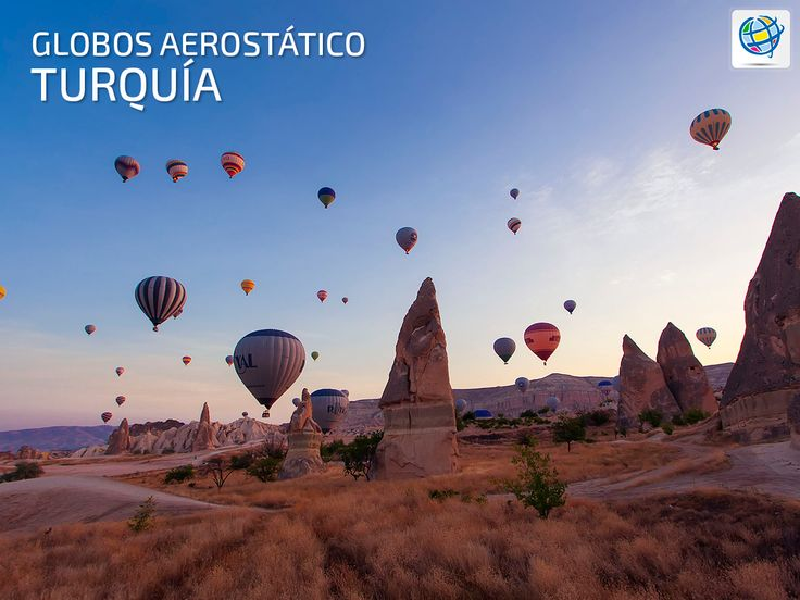 Disfrutar de un paseo en globo aerostático en #Turquía 🎈