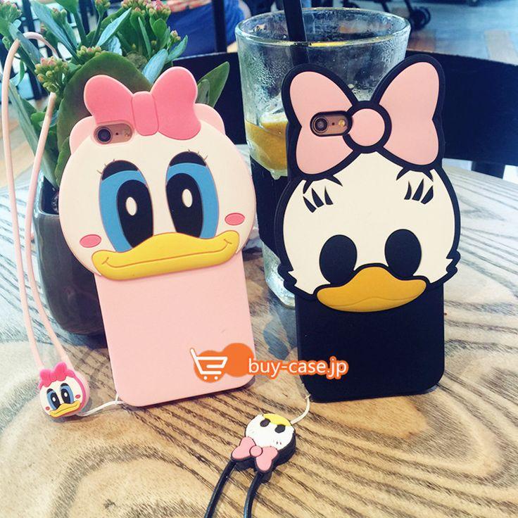 アイフォン7プラス ケース カバーキャラクター ピンクアヒルあひるダックiphone7アイフォン6s plusソフト立体シリコン保護カバー可愛い動物
