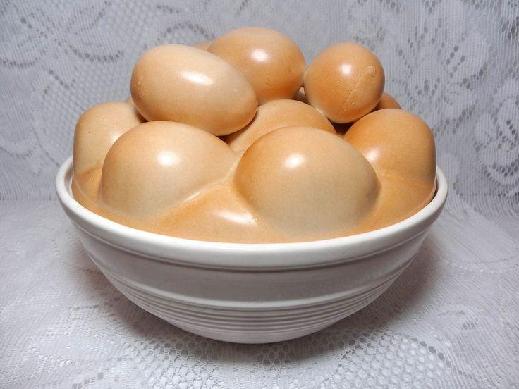 Ceramic or Pottery Bowl of Eggs European Portugal Kitchen Decor