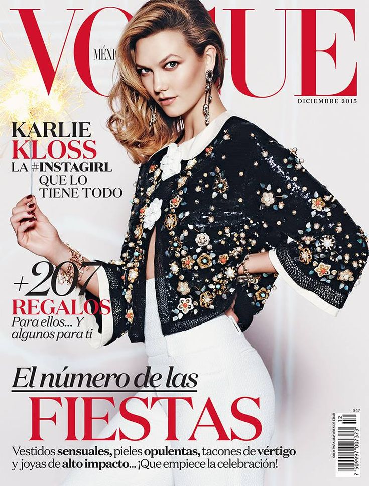 Karlie Kloss by Russell James Vogue Mexico December 2015