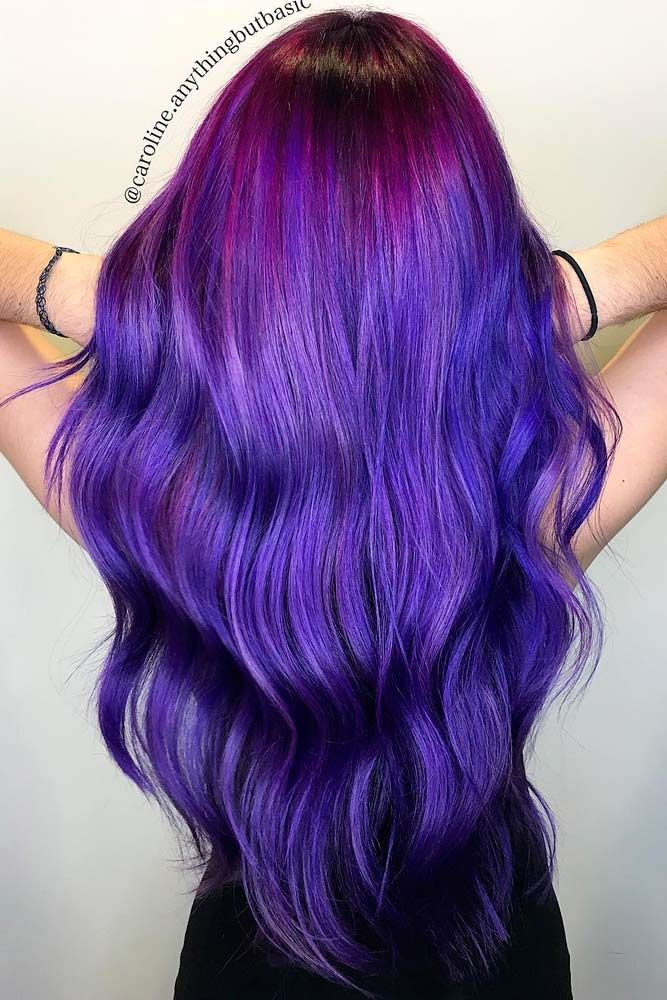 When you think about purple hair, you might love the look but hesitate if it fits your features. Start with purple streaks to be sure.