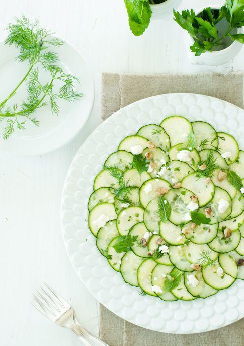 cucumber zucchini carpaccio