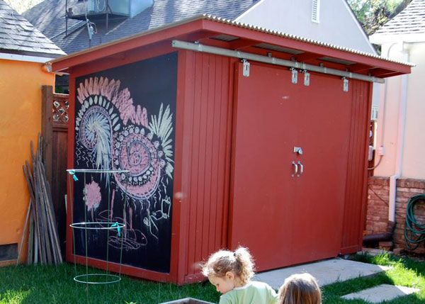 Turn your shed into a creative space.  I guess I'll need to get a shed first.