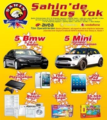 Şahin Sucukları Çekiliş Kampanyası - Şahin Sucukları BMW 3.16i ve Mini Cooper Çekiliş Kampanyası  http://www.kampanya-tv.com/2013/04/sahin-sucuklar-cekilis-kampanyas-sahin.html