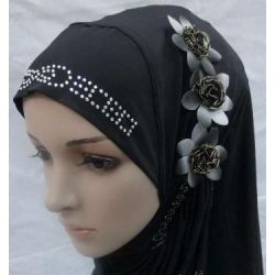 3 flower one piece muslim hijab fashionable for $14.95 #onselz