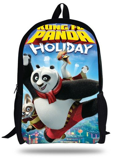 16-inch Mochilas infantis Kung Fu Panda Backpack Kids Boys Cartoon Children School Bags For Teenagers