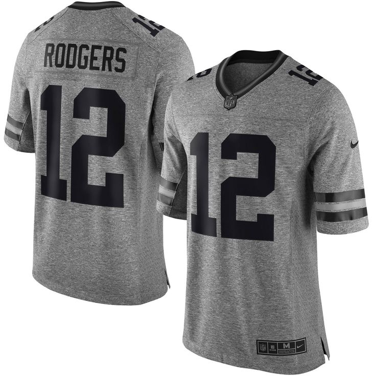... Mens Green Bay Packers Aaron Rodgers Nike Gray Gridiron Gray Limited  Jersey ... 9f030defe
