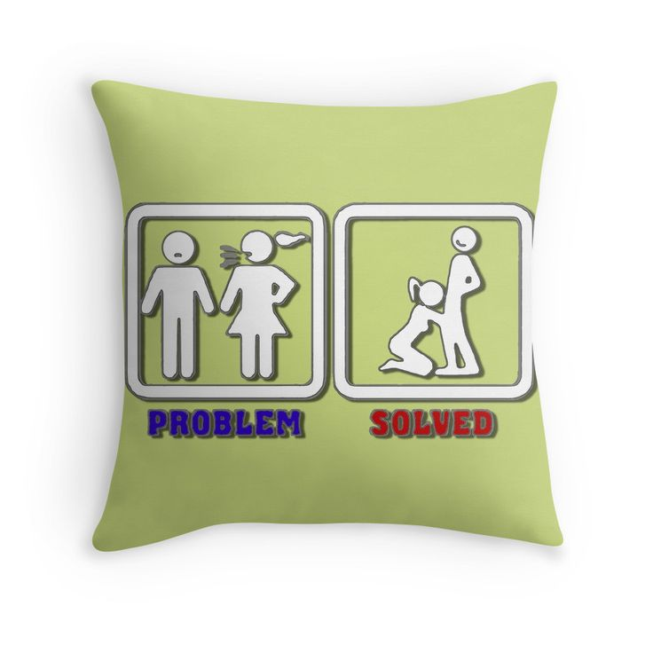 Problem? Solved! no. 5 throw #pillow  20% off everything. Enter YOUEARNEDIT at checkout. #sale