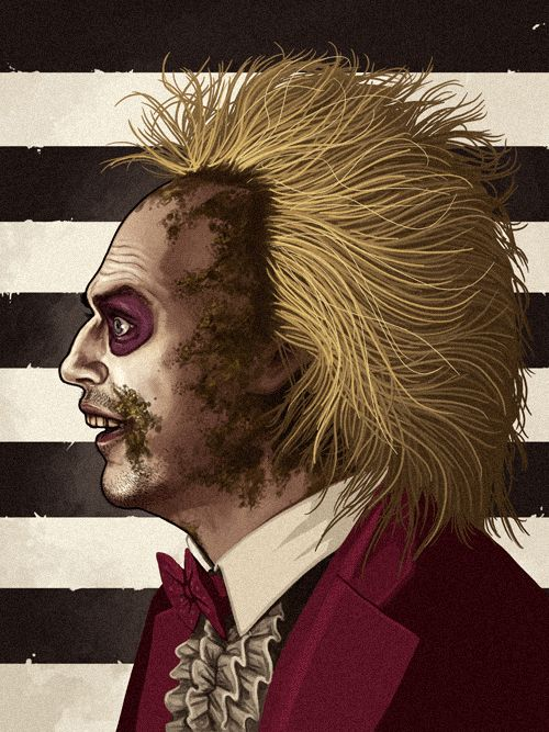 Beetlejuice (Michael Keaton) by Mike Mitchell