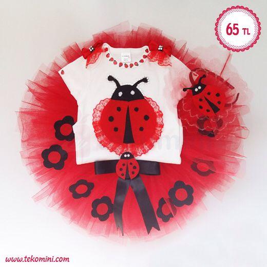 Doğum Günü & Diş Buğdayı Elbisesi - Uğur Böceği Temalı Tütü Takım 65 TL Tütü Eteği, Body ve Toka dan oluşan 3'lü Set. İsteğe göre farklı renk ve modelde özel olarak hazırlanır. #tütü #1yaş #doğumgünü #dişbuğdayı #elbise #inci #tütütakım #uğurböceği #tekomini WhatsApp: 538 490 98 10
