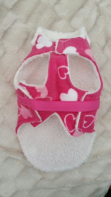 Pink fleece with hearts and faux sheep skin lining