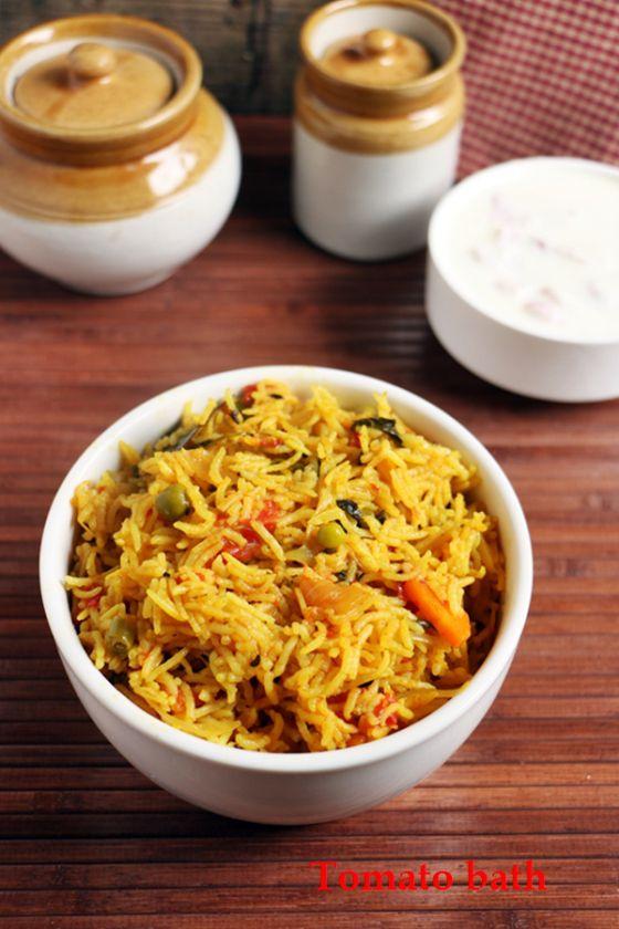 {New post} Tomato bath recipe, easy no grind tomato bath, quick fix for tiffin!  Recipe @ http://cookclickndevour.com/tomato-bath-recipe-tomato-pulao-recipe  #cookclickndevour #recipeoftheday #ricerecipes #tomatobath #vegan #indianfood #pulao