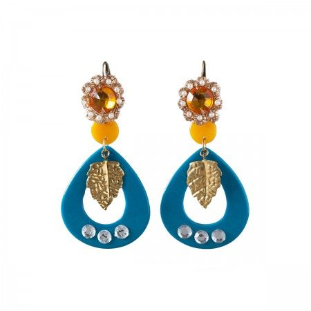 Lacrom Store || Ghingi Mingi Goi, Accessories, Earrings  Striking earrings made of bakelite with chic vintage closures.