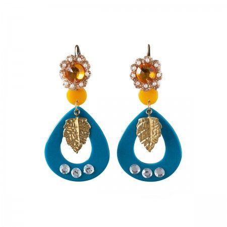 Lacrom Store || Ghingi Mingi Goi, Accessories, Earrings  Striking earrings made of bakelite with chic vintage closures.