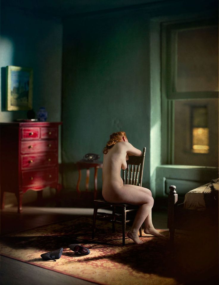 Photographic Meditations on the Paintings of Edward Hopper [NSFW]. http://richardtuschman.com/
