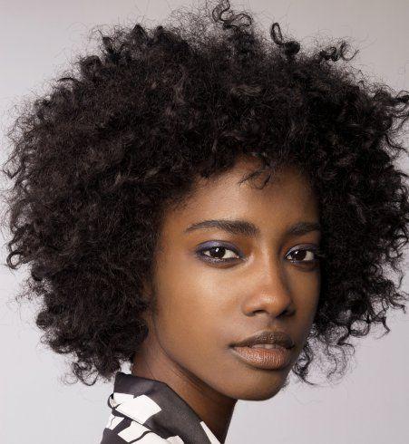 Les 25 meilleures id es de la cat gorie coiffure afro boucl e sur pinterest coiffures boucl es - Coupe afro femme ...